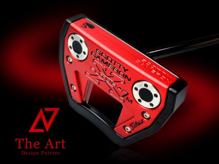 スコッティキャメロン カスタムパター X7M [NEXT] Black & Red Side Face Skull ブラックセンターシャ…