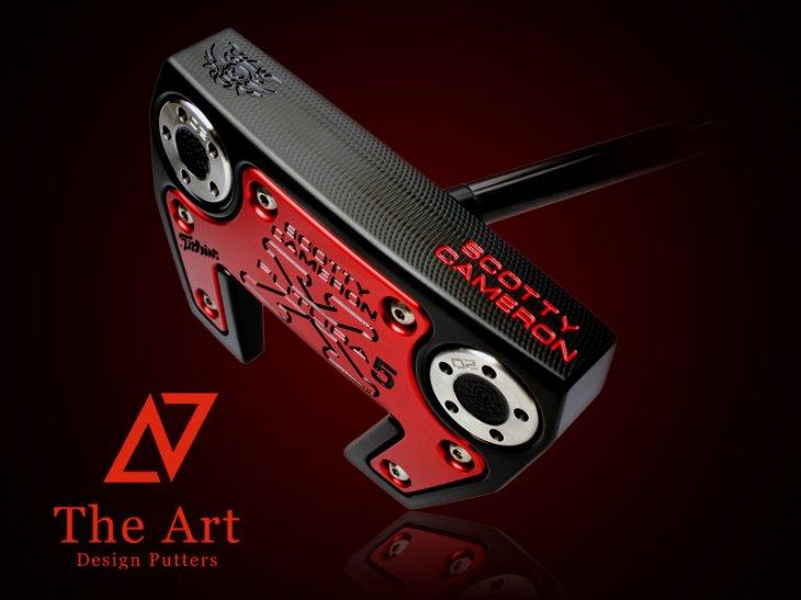 スコッティキャメロン カスタムパター X5 [NEXT] Black & Red Monster Skull ブラックセンターシャフト