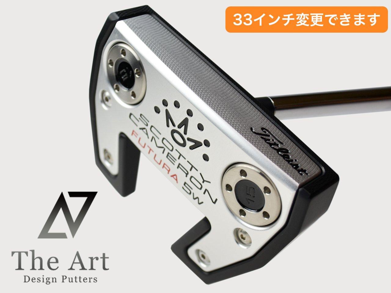スコッティキャメロン カスタムパター FUTURA 5W[NEXT] Black & Silver & Red センターシャフト  with shaft Ring