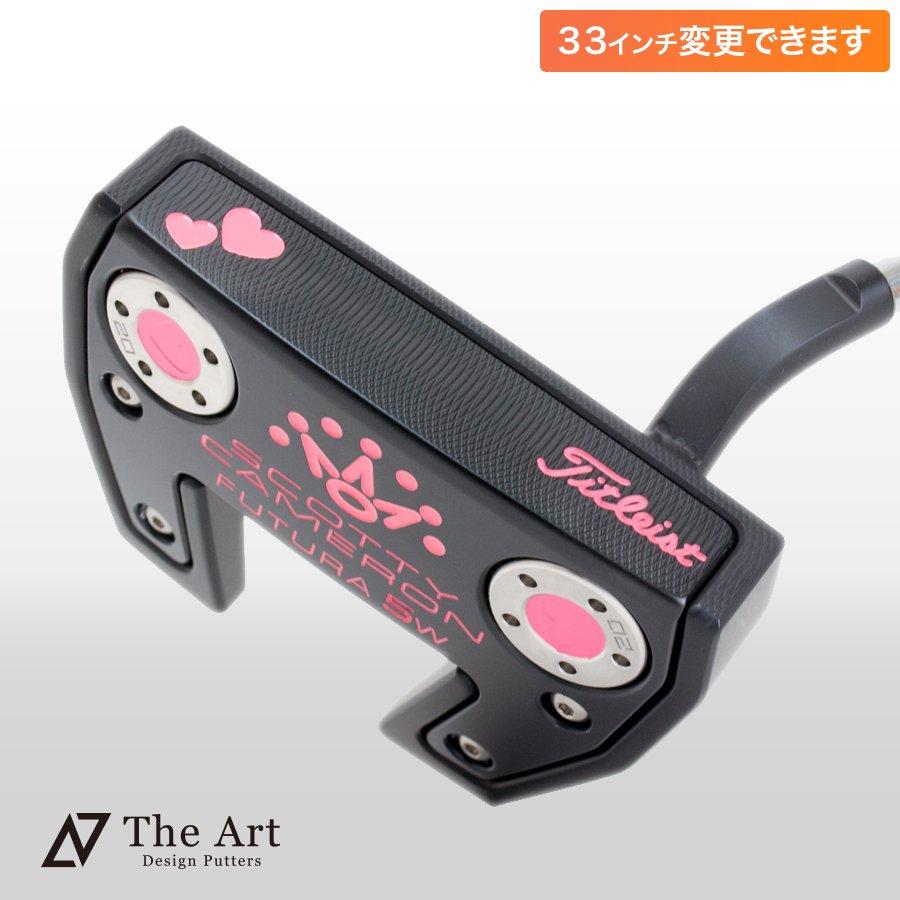 スコッティキャメロン カスタムパター FUTURA5W Tiara [Sweet Pink] キャンディピンク with ハートウェイト