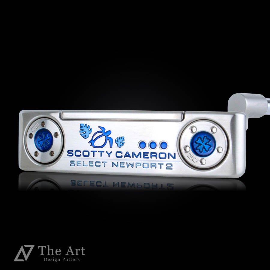 スコッティキャメロン カスタムパター ニューポート2 [Lucky HONU] versionS Blue with Clover weights