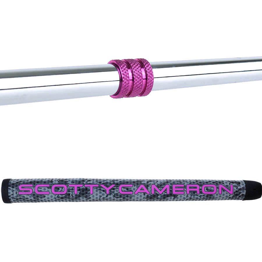 スコッティキャメロン カスタムパター FUTURA 5S [Lucky Honu] シルバー& ピンク with ピンクシャフトリング
