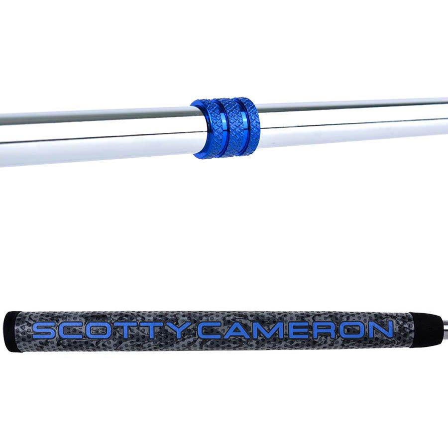 スコッティキャメロン カスタムパター FUTURA 5S [Lucky Honu] シルバー& ブルー Finish with ブルー シャフトリング
