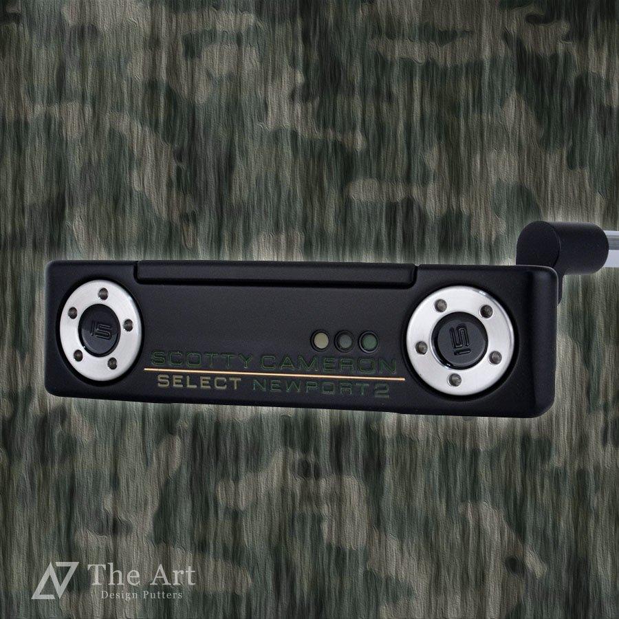 スコッティキャメロン カスタムパター ニューポート2 [CAMO] 迷彩 ブラックメッキ