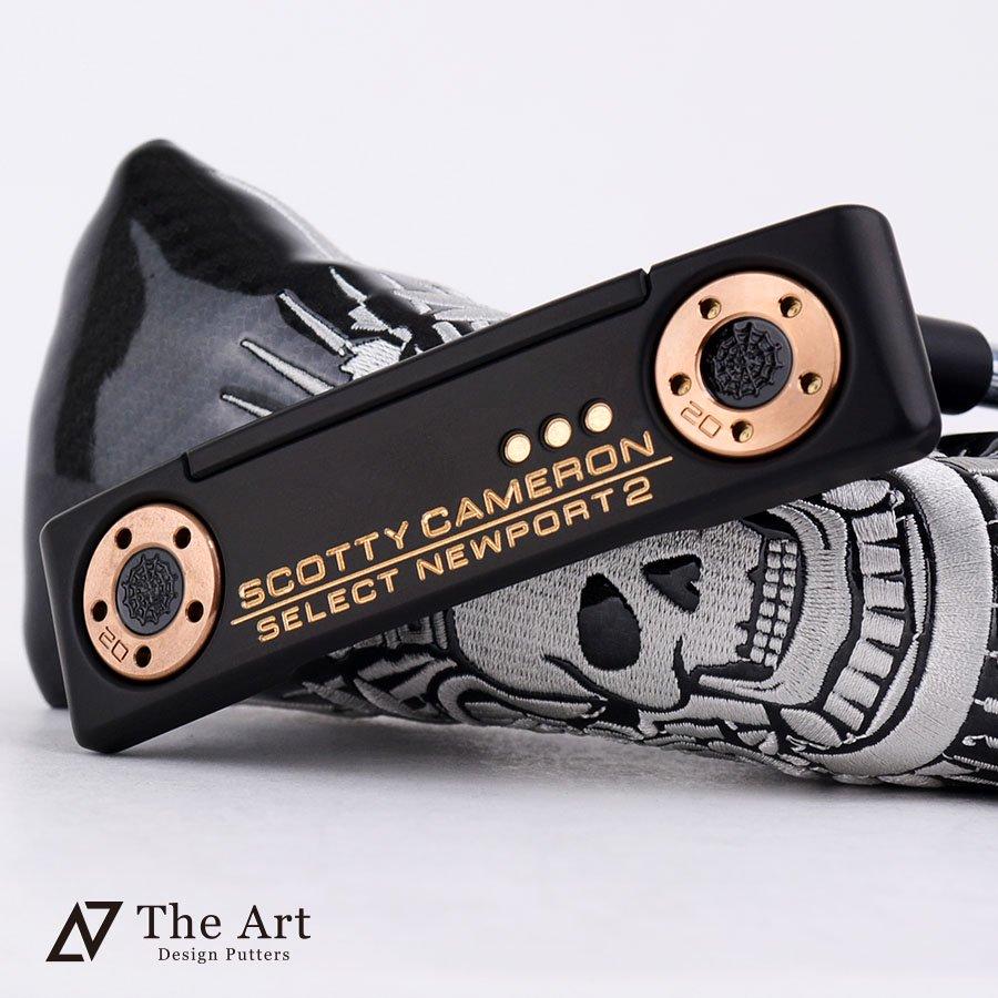 スコッティキャメロン カスタムパター ニューポート2 [Monster Skull] ブラックメッキ ツイストネック