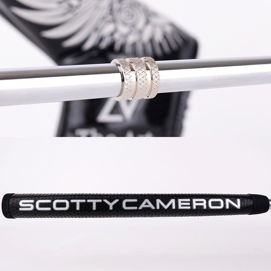 【レフティー】スコッティキャメロン カスタムパター ニューポート2 [Sideface Skull]  レフティー(左利き) シャインメッキ ツイストネック