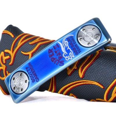 スコッティキャメロン ツアーパター Masterful Super Rat II Blue Pearl Finish& circle t 20 G weights フランジライン