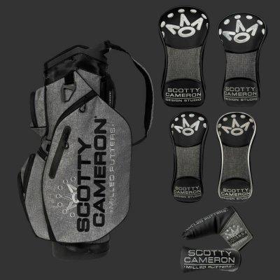 【セット】スコッティ キャメロン 2019 全英オープン 記念カートバッグ Heather Gray ヘッドカバーセット