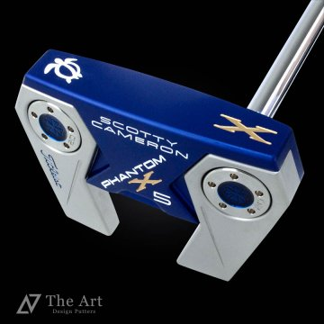 スコッティキャメロン カスタムパター ファントム X5 [Lucky Honu] ブルーアルマイト