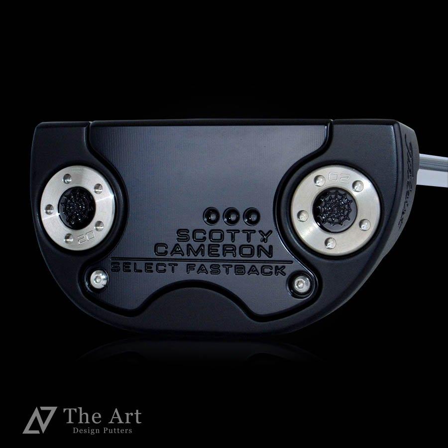 スコッティキャメロン カスタムパター ファストバック [Monster Skull]  センターシャフト ブラック 3本フランジライン
