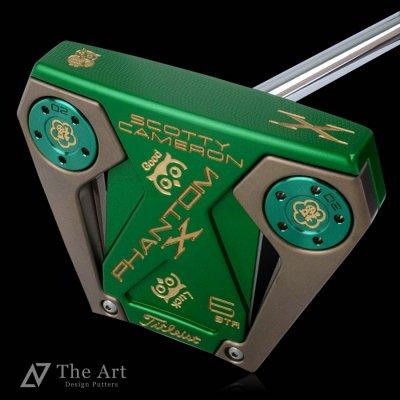 【オーダー】スコッティキャメロン カスタムパター PHANTOM X6 STR [Lucky Owl] ブロンズ&グリーンプレート