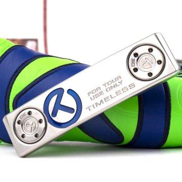 スコッティキャメロン ツアーパター2020 SSS TIMELESS Tourtype with 35g サークルT weights Translucent blue & Flangeline