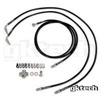 GKTech 日産 2POT デュアルキャリパー ブライドブレーキラインキット