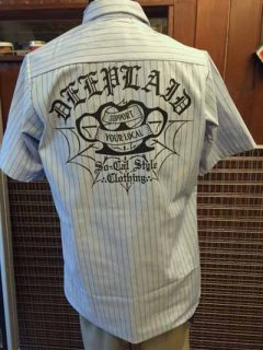 DEEPLAID CLOTHING KNUCKLE S/S STRIPE WORK SHIRTS ディープレイド/6,800円