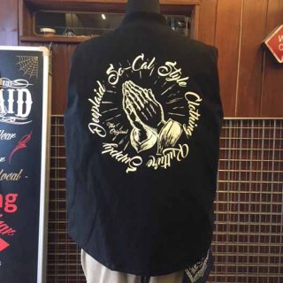 DEEPLAID CLOTHING PRAYING HAND WORK VEST ディープレイド/16,000円