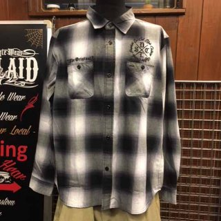 DEEPLAID CLOTHING HARD CORE L/S OMBRE CHECK SHIRTS /8,800円