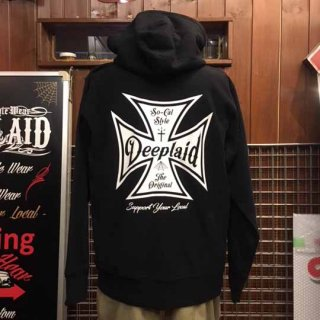 DEEPLAID CLOTHING IRON CROSS ZIP HOOD ディープレイド/8,800円