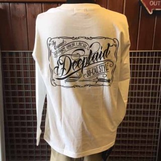 DEEPLAID CLOTHING ORIGINAL SCRIPT LONG SLEEVE TEE ディープレイド/4,800円