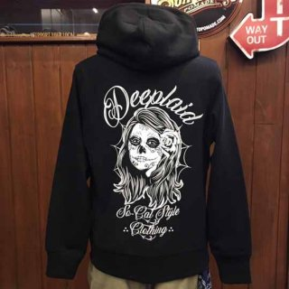 DEEPLAID CLOTHING DAY OF THE DEAD ZIP HOOD ディープレイド/8,800円