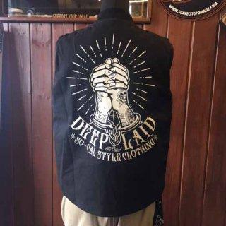 DEEPLAID CLOTHING CRIMINAL PRAYER COTTON TWILL VEST ディープレイド/16,000円