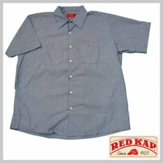 リーズナブルで合わせやすい半袖ストライプワークシャツ!RED KAP SP20BW/3,480円