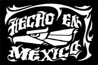 HECHO EN MEXICOカッティングステッカー ホワイト・ブラック・ブルー・レッド/525円