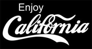 CALIFORNIAカッティングステッカー ホワイト・ブラック・ブルー・レッド /525円