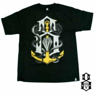 定番REBEL8ロゴに蛇と碇が絡み付いたデザイン!REBEL8 CAPSIZED TEE/4,880円