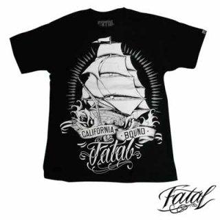 大きく船がプリントされた個人的にオススメなTシャツ!FATAL CALIFORNIA BOUND TEE/3,980円