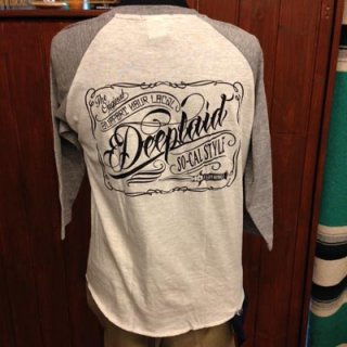 DEEPLAID CLOTHING SCRIPT SIGN 3/4 SLEEVE TEE ディープレイド/5,800円