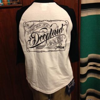 DEEPLAID CLOTHING SCRIPT SIGN 3/4 SLEEVE TEE ディープレイド/4,800円