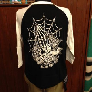 DEEPLAID CLOTHING SKULL PRAY 3/4 SLEEVE TEE ディープレイド/4,800円