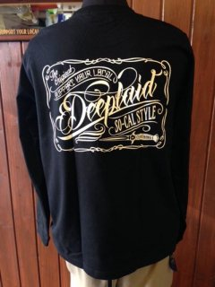 DEEPLAID CLOTHING SCRIPT SIGN LONG SLEEVE TEE ディープレイド/4,800円