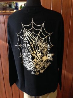 DEEPLAID CLOTHING SKULL PRAY LONG SLEEVE TEE ディープレイド/4,800円