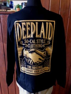 DEEPLAID CLOTHING SHAKE HANDS LONG SLEEVE TEE ディープレイド/4,800円