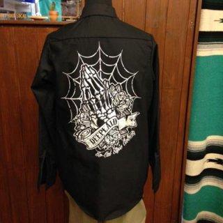 DEEPLAID CLOTHING SKULL PRAY L/S WORK SHIRTS ディープレイド/7,800円