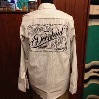 DEEPLAID CLOTHING SCRIPT SIGN STRIPE L/S WORK SHIRTS ディープレイド/8,800円