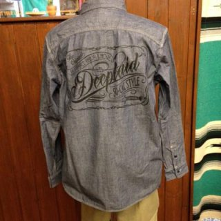 DEEPLAID CLOTHING SCRIPT SIGN CHAMBRAY L/S SHIRTS ディープレイド/8,800円