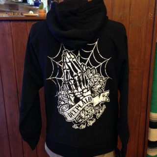 DEEPLAID CLOTHING SKULL PRAY ZIP HOOD ディープレイド/8,800円