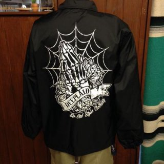 DEEPLAID CLOTHING SKULL PRAY NYLON JACKET ディープレイド/8,800円