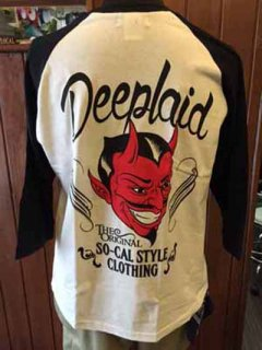 DEEPLAID CLOTHING DEVIL 3/4 SLEEVE TEE ディープレイド/4,800円