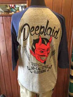 DEEPLAID CLOTHING DEVIL 3/4 SLEEVE TEE ディープレイド/5,800円