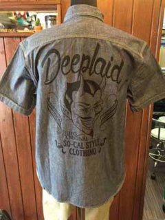 DEEPLAID CLOTHING DEVIL CHAMBRAY S/S SHIRTS ディープレイド/7,800円