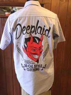 DEEPLAID CLOTHING DEVIL S/S STRIPE WORK SHIRTS ディープレイド/6,800円