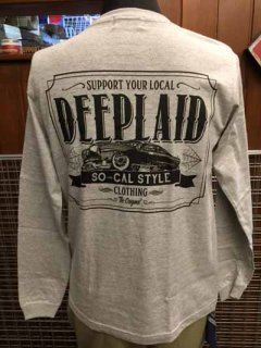 DEEPLAID CLOTHING KUSTOM RIDE LONG SLEEVE TEE ディープレイド/4,800円