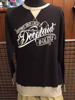 DEEPLAID CLOTHING ORIGINAL SCRIPT CREW NECK SWEAT ディープレイド/8,000円