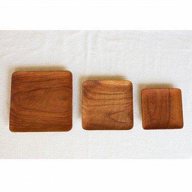 木の皿 おやこ四角皿 Mサイズ