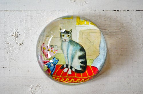 ペーパーウェイトドーム 猫