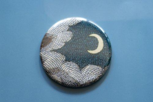 ジョンデリアンのミラー 月と雲