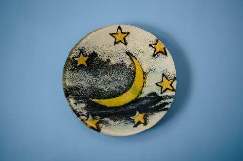 ラウンドプレートS 月と星